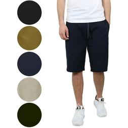 2-PACK Mens Cotton Stretch Jogger Shorts Twill Lounge Casual