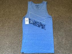 $30 - BRAND NEW HURLEY TANK TOP MENS TEE T SHIRT BLUE ICON S