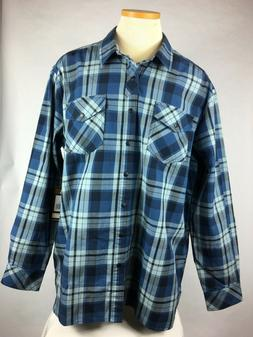 5.11 Mens Long Sleeve Plaid Shirt Casual CCW Snap Buttons M