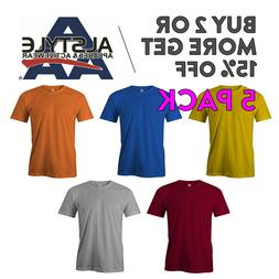 5 PACK AAA ALSTYLE 1301 MENS CASUAL T SHIRT PLAIN SHORT SLEE