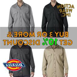 DICKIES 574 MENS LONG SLEEVE WORK SHIRT BUTTON FRONT ACTIVE
