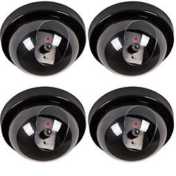 WALI Dummy Fake Security CCTV Dome Camera with Flashing Red