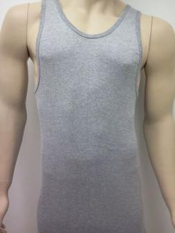 A-SHIRTS TANK TOPS GREY mens WIFE BEATERS new 3 pack free sh