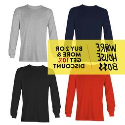 AAA 1304 ALSTYLE MENS PLAIN LONG SLEEVE T SHIRT CASUAL COTTO