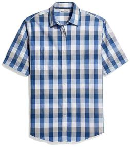 Amazon Essentials Mens Regular-Fit Short-Sleeve Casual Popli