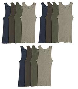Fruit of the Loom Men's 12-Pack Premium Assorted A Shirts /