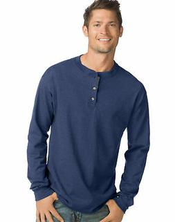 beefy t men s long sleeve henley