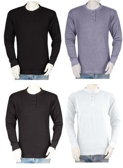 Big and Tall Mens THERMAL Shirts - Henley - Heavy Weight