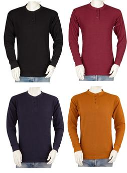 Big and Tall Mens THERMAL Shirts - Henley - Heavy Weight - C