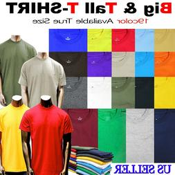 Big and Tall Sizes Mens Tee Shirts Premium Quality S/S T Cre