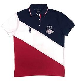 POLO RALPH LAUREN Mens Big Pony Country Custom Fit Mesh Polo