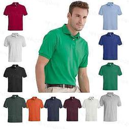 Hanes Blended Mens Shirt Polo Golf Jersey Sport T-shirt S -