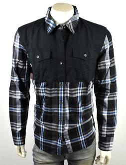 brand jeans mens utility plaid button up