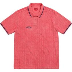 Supreme Cable Knit Terry Polo Pink Large