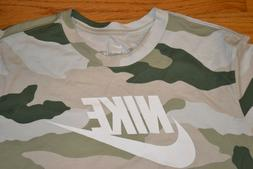 Nike Camouflage Long Sleeve T-Shirt Standard Fit Men's Size:
