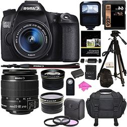 Canon EOS 70D Digital SLR Camera with 18-55mm STM Lens, Pola