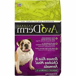 AvoDerm Natural Weight Control Dry Dog Food, Brown Rice & Ch