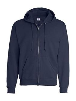 Hanes Men's ComfortBlend Full-Zip Hood 7.8 oz., XL-Navy