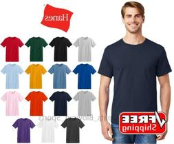Hanes ComfortSoft T-Shirt Cotton Comfort Tagless Soft Plain