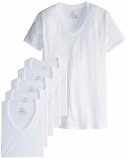 Hanes ComfortSoft TAGLESS Men's V-Neck Undershirt 7-Pack  Wh