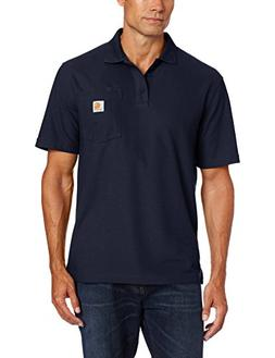 Carhartt Men's Contractors Work Pocket Polo Original Fit,Nav