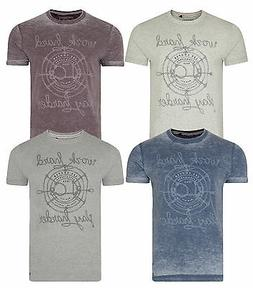 Lee Cooper Printed Farway New Men's T-Shirts Cotton Vintag