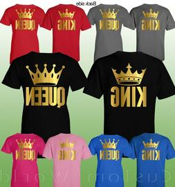 Couple Shirt King and Queen Matching Couple Clothes T-Shirts