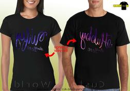 Couple Shirts Hubby Wifey GALAXY Matching tees Love His and