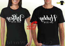 Couple Shirts Hubby Wifey Matching tees Love His and Hers  C