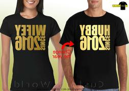 Couple Shirts Hubby Wifey Tees Matching His and Hers Tshirt