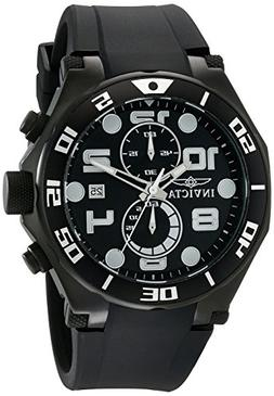Invicta Men's Pro Diver Chronograph Black Polyurethane and D