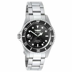 Invicta Men's Pro Diver Stainless Steel Black Dial