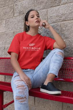 DOOR DASH Delivery RED T-Shirt Uniform PRINT and SHIP SAME D