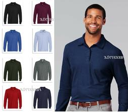 Gildan DryBlend Double Pique Long Sleeve Mens Sport Polo T-S