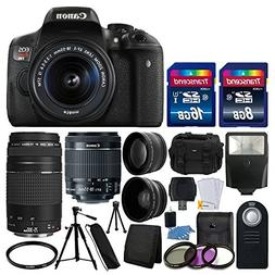 Canon EOS Rebel T6i 24.2MP Digital SLR Camera Bundle with Ca