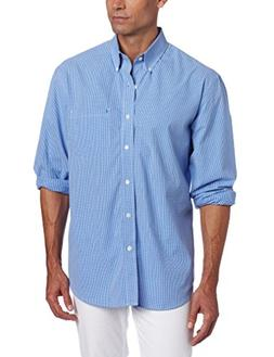 IZOD Men's Essential Check Long Sleeve Shirt, American Dream
