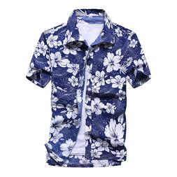 Fashion <font><b>Mens</b></font> Hawaiian <font><b>Shirt</b>