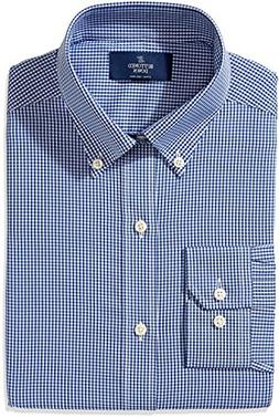 BUTTONED DOWN Men's Fitted Button-Collar Non-Iron Dress Shir