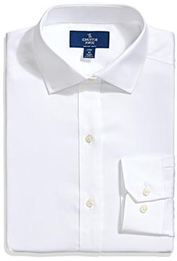 BUTTONED DOWN Men's Fitted Spread-Collar Non-Iron Dress Shir