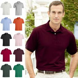 Hanes Golf Tee  Blended Jersey Sport Shirt Mens Polo golf sh