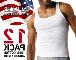GREAT DEAL Men's Undershirt Tank Top PACK OF 12 Athletic A-s
