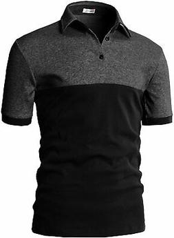 H2H Mens Casual Slim Fit Polo T-Shirts of Various Styles and