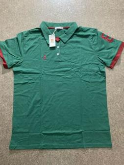 H2H Polo Shirt Green & Maroon Size XL NEW