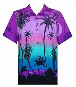 Hawaiian Shirt 5 Mens Allover Coconut Tree Print Beach Aloha