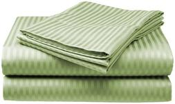 Crystal Trading 4-Piece Bed Sheet Set - Dobby Stripe - 100%