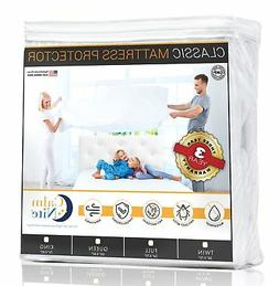 Twin Size Mattress Pad Protector - Waterproof & Hypoallergen