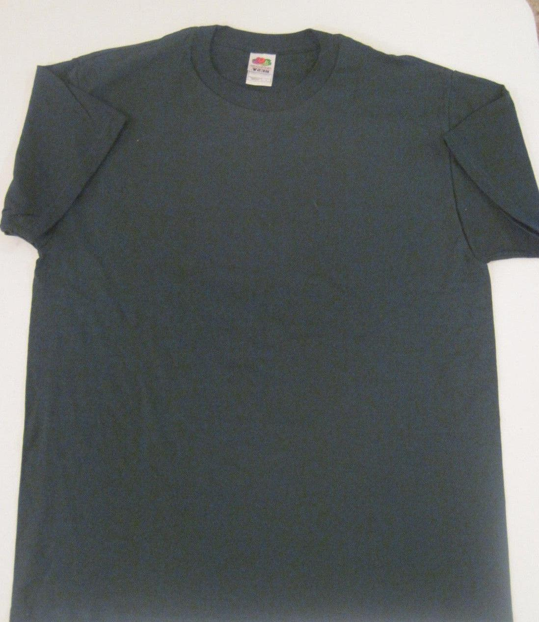 1990's Fruit Of The Loom Best T-Shirt Dark Green Size Mens L