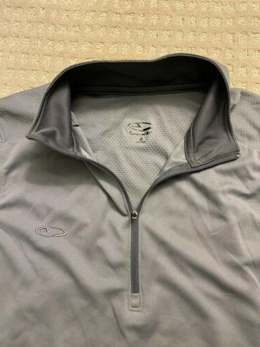2x Champion Zip Shirt Mens New Blue Gray Pullover