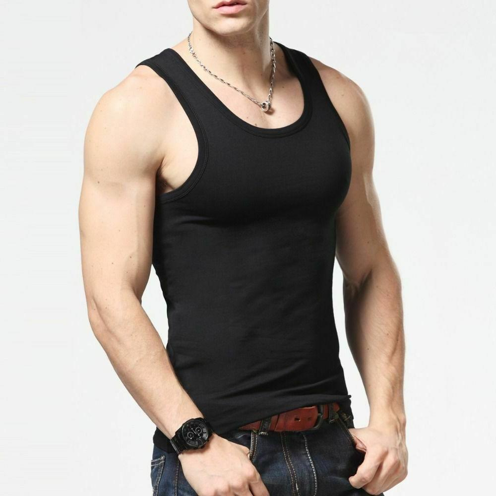 3 to 12 Packs Mens 100% Tank Top A-Shirt Wife Undershirt Small