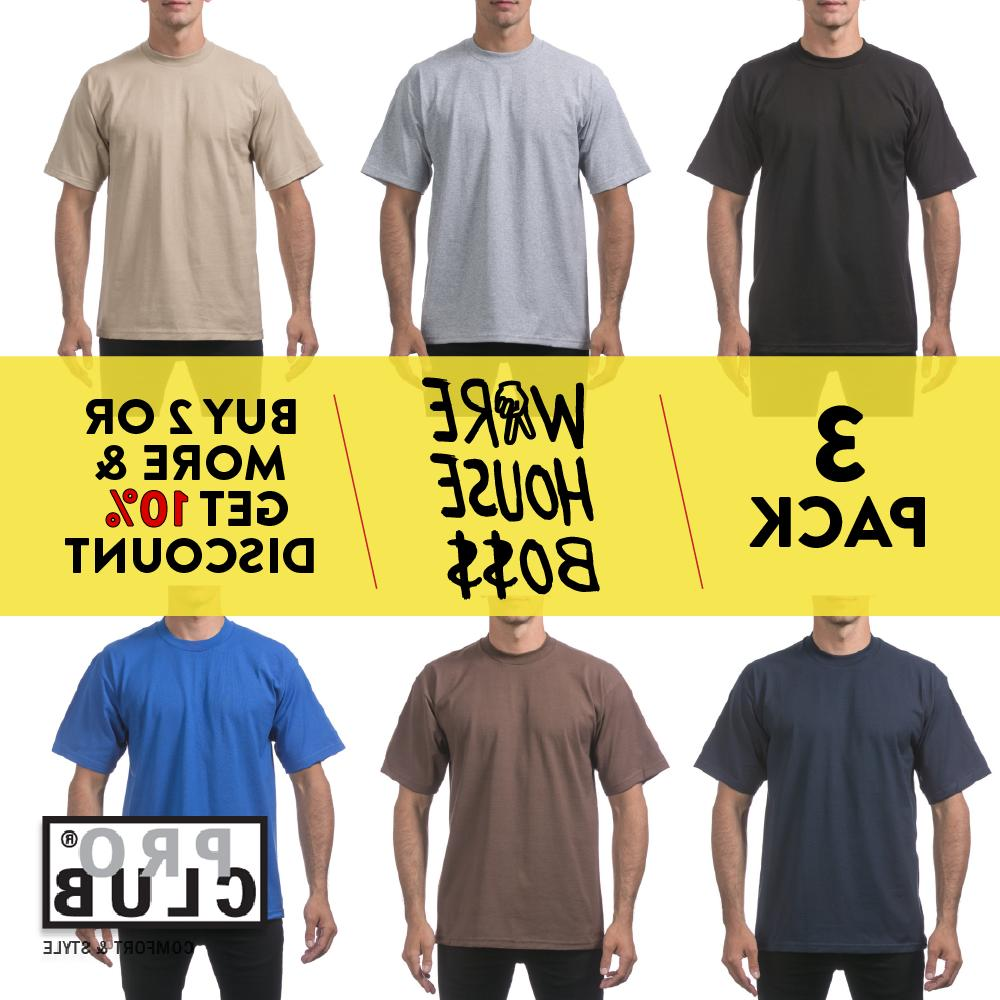 3 pack proclub mens t shirt short